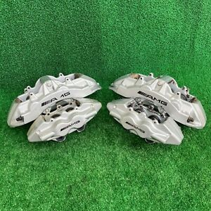 03 06 Mercedes W220 W215 Cl55 S55 Amg Front Rear Brake Calipers Set Brembo Oem
