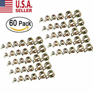 60pack Spring Clips Fuel Hose Line Water Pipe Air Tube Clamps 7 10 11 14 16 17mm