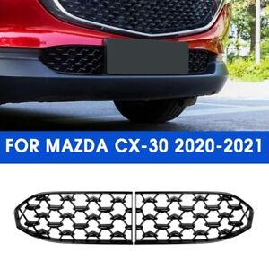 Black For Mazda Cx 30 2020 2021 Front Lower Bumper Grill Grille Moulding Cover