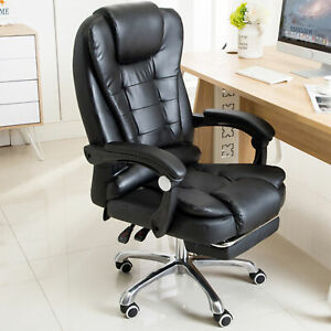 Office Chair Executive Massage Swivel Gaming Computer Desk Chair Footrest Usa