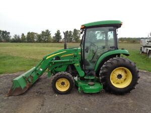 2006 John Deere 4720 Tractor Cab heat air 4wd Hydro 72 Belly Mower Loader