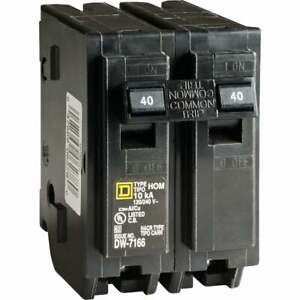 Square D Homeline 40a Double pole Standard Trip Circuit Breaker Hom240c 1