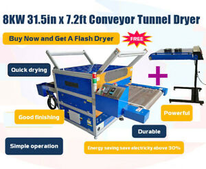 220v 7 2ftx31 5 Screen Printing Conveyor Tunnel Dryer 20 x24 Ir Flash Dryer