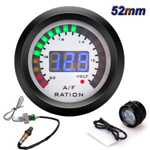 52mm Led Digital Racing Car Air Fuel Ratio Gauge W Narrowband O2 Oxygen Sensor