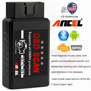 Obd2 Car Bluetooth Code Reader Diagnostic Tool Scanner For Android Engine