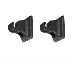 1985 2004 Ford Mustang Coupe Sun Visor Holder Retainer Clips Hooks Black Pair