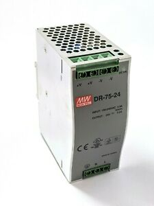 Mean Well Dr 75 24 Din Rail Power Supply 24 Vdc