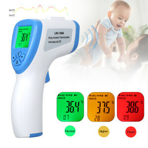 Lcd Thermometer Non contact Infrared Gun Digital Forehead Gauge Body Adult Baby