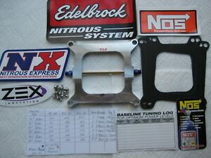 limited Time Offer new Holley 4150 Cheater Nitrous Plate Kit 50 250hp Nx nos