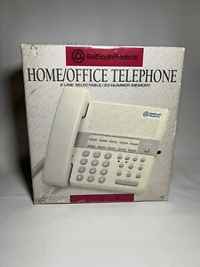 Bellsouth Home Office Landline Telephone 2 Line Selectable 20 Number Memory 259