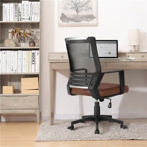 Chair Computer Desk Mesh Office Chair Adjustable High Back Brown And Black