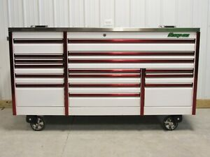 Snap On White Red 84 Epiq Tool Box Stainless Steel Power Top