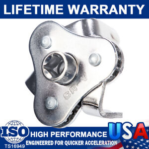 Oil Filter Wrench Adjustable Universal 3 Jaw Remover Tool Socket 1 2 3 8 Drive