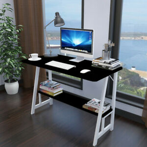 Computer Laptop Desk Home Office Workstation Writing Study Wood Table W shelf