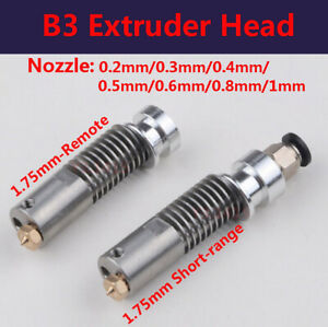 B3 Extruder Head All metal Stainless 1 75mm Remote Proximity Nozzle 3d Printer
