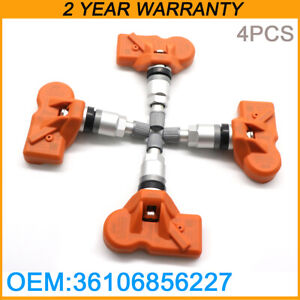 36106856227 Set 4pcs New Orange Tire Pressure Sensor Tpms For Bmw Z4 Mini 433mhz