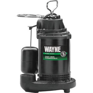 Wayne Water System 1 2 Hp 115v Cast iron Submersible Sump Pump Cdu800 56270 1