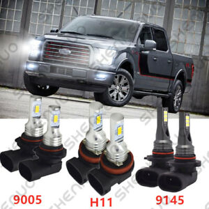 For Ford F 150 2015 2020 Front Led Headlight High Low Beam Fog Light Bulbs
