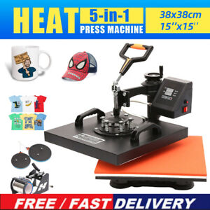 T shirt Mug Hat Plate Cap Heat Press Machine Sublimation Printing Transfer