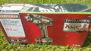 Craftsman 19 2v C3 Impact Wrench Kit Lithium Ion 1 2 Inch 19 2 Volt