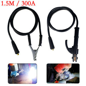 1 5m 300amp Welding Earth Clamp Stick Welder Cable For Arc Igbt Machine
