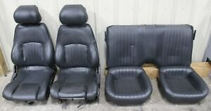 1993 1995 Pontiac Trans Am Ws6 Gray Leather Seat Set Front rear Used Gm cores