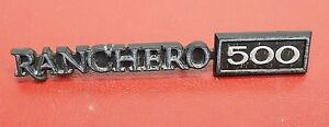 Sept 1978 Ford Ranchero 500 Part Dash Emblem