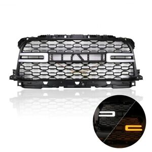 Front Grill For 2019 2020 Ram 2500 Truck W Red Led Letter And Signal Sequential