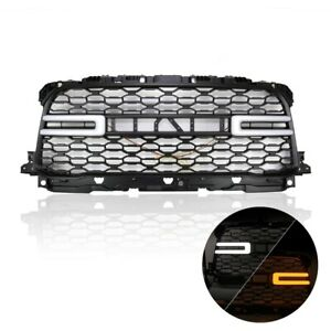 Front Grill For 2019 2020 Ram 2500 Truck W Silver Letter And Sequential Signal