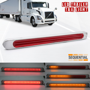 2x Led Strip Rv Trailer Truck Drl Stop Sequential Signal Brake Tail Light Bars