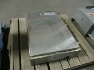 Electromate Stainless Steel 4x Enclosure Size 36 X 24x 6 Used