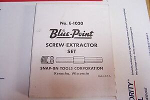 Blue Point American Made Screw Extractor Set 1 4 To 1 2 Screws