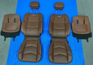 2017 Cadillac Escalade Left Right Front Seat Cover Foam Leather Vecchio Brown