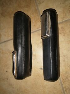 1964 66 Mopar B body Rear Arm Rest Pads With Ash Trays Black Dodge Plymouth