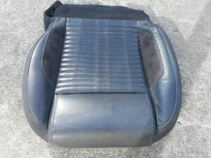 11 Ford Mustang Shelby Gt500 Black Leather Driver Seat Bottom