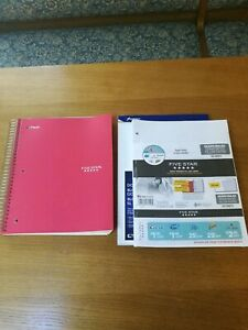 Lot Of Brand new 5 subject Notebook And Two Packages Graph Paper School Supplies