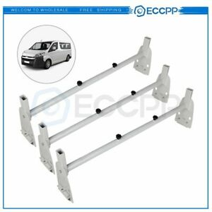 Removeable 3 Bar Van Roof Ladder Rack Cargo Carrier Universal For Ford Chevy