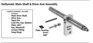 Main Shaft Drive Arm Assembly 00007695 For Hollymatic Super 54 Patty Machine