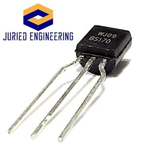 Bs170 Small Signal Mosfet 500 Ma 60 Volts N channel Enhancement Mode Fet To 92