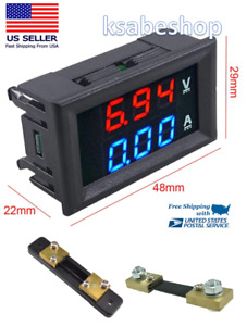 Mini Digital Voltmeter Shunt Ammeter Dc 100v 100a Led Display Amp Volt Tester