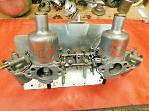 Mg Midget Sprite Su Hs2 Rebuilt Carburetor Set Bolt On Ready Thru Manifold