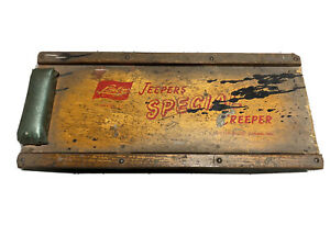 Vintage Lisle Jeepers Creeper special Wooden Auto Creeper Sp