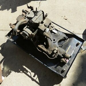1965 1966 Mustang Ford 289 302 V 8 2 Barrel Intake Manifold With Carb Oem