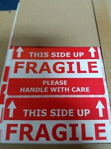 Shipping Labels this Side Up fragile Please Handle With Care 100 Count