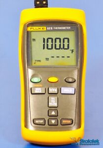 Fluke 52 Ii Thermometer Dual Input Thermocouple 0 05 Accuracy Nist Calibrated