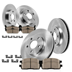 For 2004 2008 Acura Tl Front 300 Mm Rear 282 Mm Brake Rotors Ceramic Pads