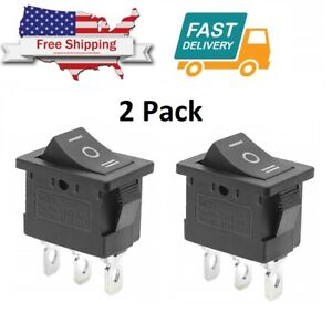 2 X On off on Spdt 3 Position Micro Mini Toggle Switch 10 Amp 125v 3 Pin