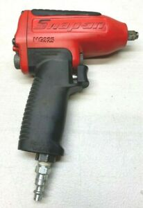 Snap on 3 8 Drive Air Impact Hd Wrench Lug Red Nice Used Very Little Mg325