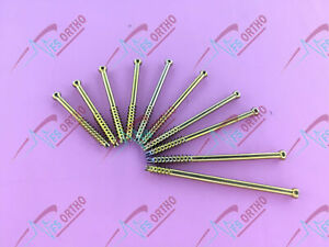 Cannulated Screw 7 0mm Titanium Lot Of 22 Pcs Orthopedic Instruments