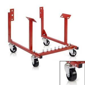 1 X Engine Cradle Heavy Duty 1000 Lbs For Chevrolet Chevy V8 Red